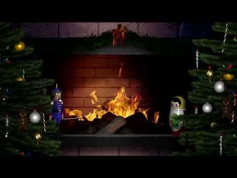 Silent Night ❄ Fireplace HD ❄ Christmas Carols for children - Christmas Songs
