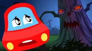🔴 Halloween Nursery Rhymes And Videos For Toddlers | Little Red Car Cartoons For Children