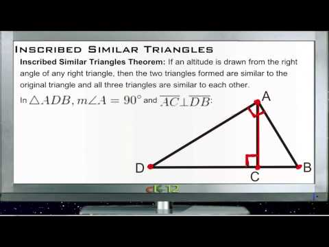 Inscribed Similar Triangles Principles - Basic