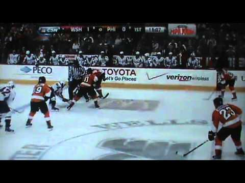 Washington Capitals Vs Philadelphia Flyers - Full Game 1st Period 3/31/13