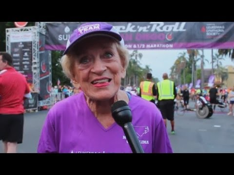 91-year-old woman breaks two records running San Diego marathon