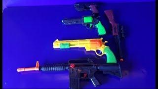 Box of Toys - Guns Toys !!! Crystal Bomb Gun I Folding gun ,NINJA Weapons USA
