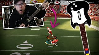 Playing a Game of Madden with a GUITAR HERO Controller AND WINNING!?