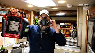 Are BUDDY HEATERS SAFE Inside an RV ?? | Carbon Monoxide FULL TEST( REVIEW)