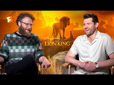 """Download Lagu  Seth Rogen & Billy Eichner """"Hated"""" Singing with Donald Glover in 'The Lion King' Mp3 Free"""