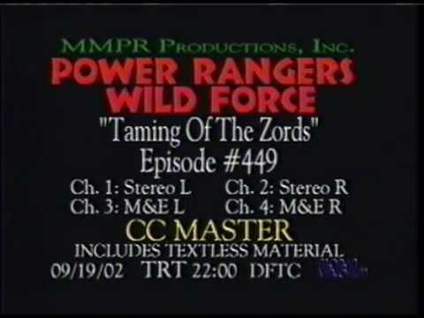 Power Rangers Wild Force random textless material