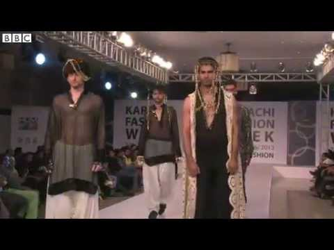 BBC News - Menswear comes into focus at Karachi Fashion Week
