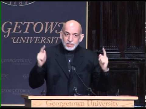 President Karzai's remarks at Georgetown University