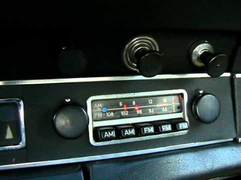 Original Blaupunkt Radio In 1972 Porsche 911t Coupe For