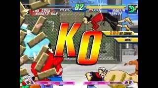 MUGEN Battle #0014 - Team Anime vs Team Cartoons (4v4 simul)