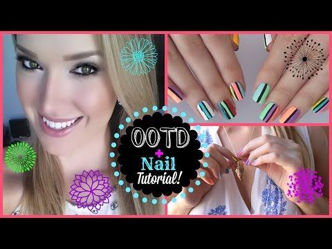 OOTD + Nail Tutorial! | MissJenFABULOUS