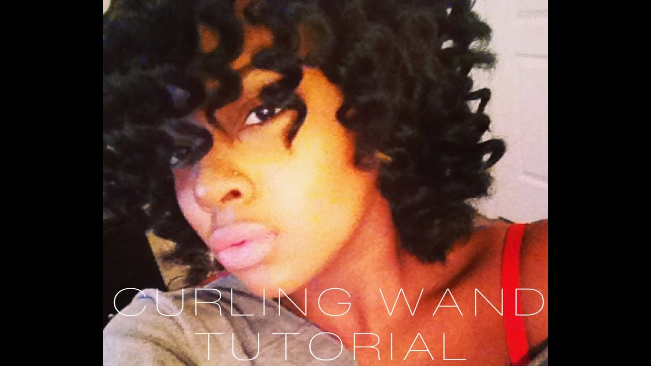 Curling Hair With Wand Short Hair Curling Wand on Natural Hair