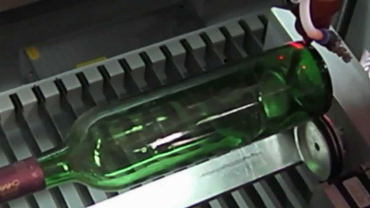 Laser Rotary Engraving On Glass Bottle China Laser