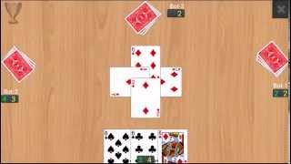 "Recorded game play of card game ""Callbreak Multiplayer"""
