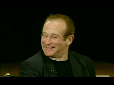 "Robin Williams on ""Inside the Actors Studio"" answers James Lipton's question ""If Heaven exists what would you like to hear God say at the Pearly Gates?"""