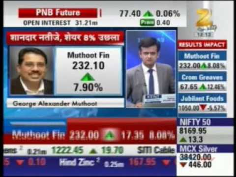 The Muthoot Group   30 May 2016   Zee Business Sensex Strategy