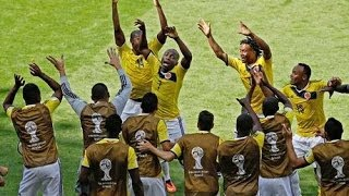 Colombia 3 - 0 Greece. The third goal.