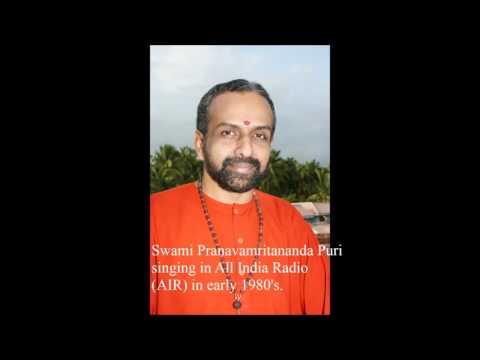 Swami Pranavamritananda Puri singing in All India Radio (AIR) in early 1980's