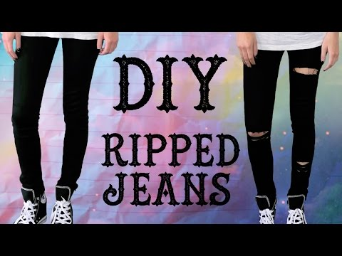 DIY - Ripped Jeans | Brittany Balyn