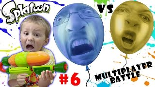 Lets Play SPLATOON Part 6:  POP BALLOONS BATTLE! (FGTEEV MULTIPLAYER ACTION)