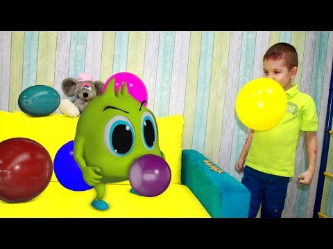 Хелпик боится много шариков! Что придумал Рома? Для детей Рома и Хелпик