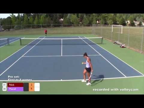 Tennis:  Female Pro vs. Amateur Male