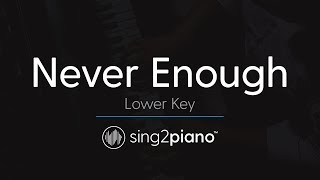 Never Enough [Lower Piano karaoke] The Greatest Showman