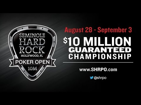$10 Million Guaranteed Seminole Hard Rock Poker Open Championship No Limit Hold'em video