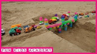 Build a Bridge with Assembled Toys and Car Toys for Kids   Videos for Children