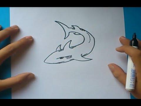 Como dibujar un tiburon paso a paso how to draw a shark for Dibujar un mueble en 3d