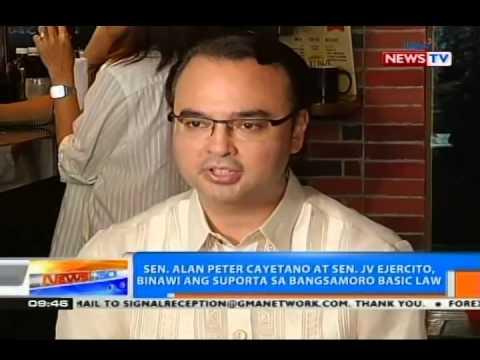 NTG: Sen. Cayetano at Sen. Ejercito, binawi ang suporta sa Bangsamoro Basic Law