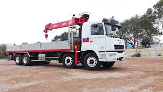 Xe tải thùng CAMC động cơ HINO công suất 325 gắn cẩu CSS 7 tấn