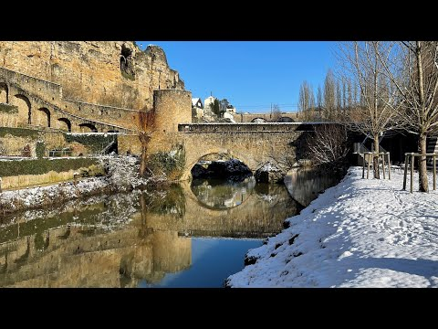 Winter of Luxembourg City - hiver Luxembourg ville - vidéo de tourisme - Grand-Duchy travel video
