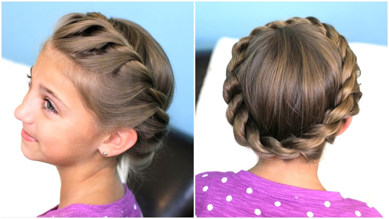 Hairstyle Creator : How to create a Crown Twist Braid Updo Hairstyles - YouTube