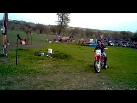 Christopher on the CRF450X