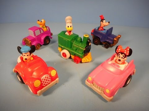 1988 MICKEY'S BIRTHDAYLAND WALT DISNEY WORLD SET OF 5 McDONALD'S HAPPY MEAL KID'S TOY'S VIDEO REVIEW