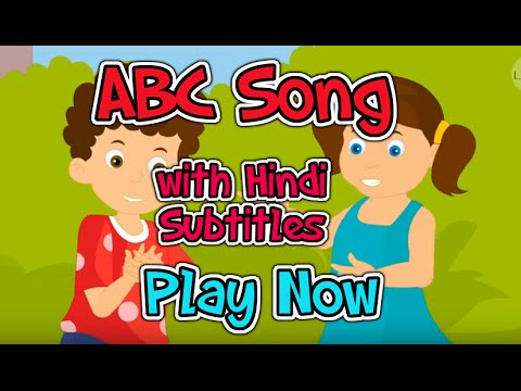 ABC song with Hindi Subtitles - Nursery Rhymes