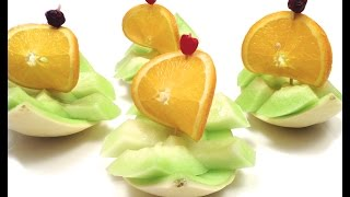 How to Make a Sailboat with a Honeydew Melon / DIY, Party Idea, Tutorial