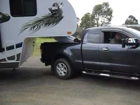 5th Wheelers Australia - NEW Ford Ranger Extra Cab towing a 5th wheel caravan