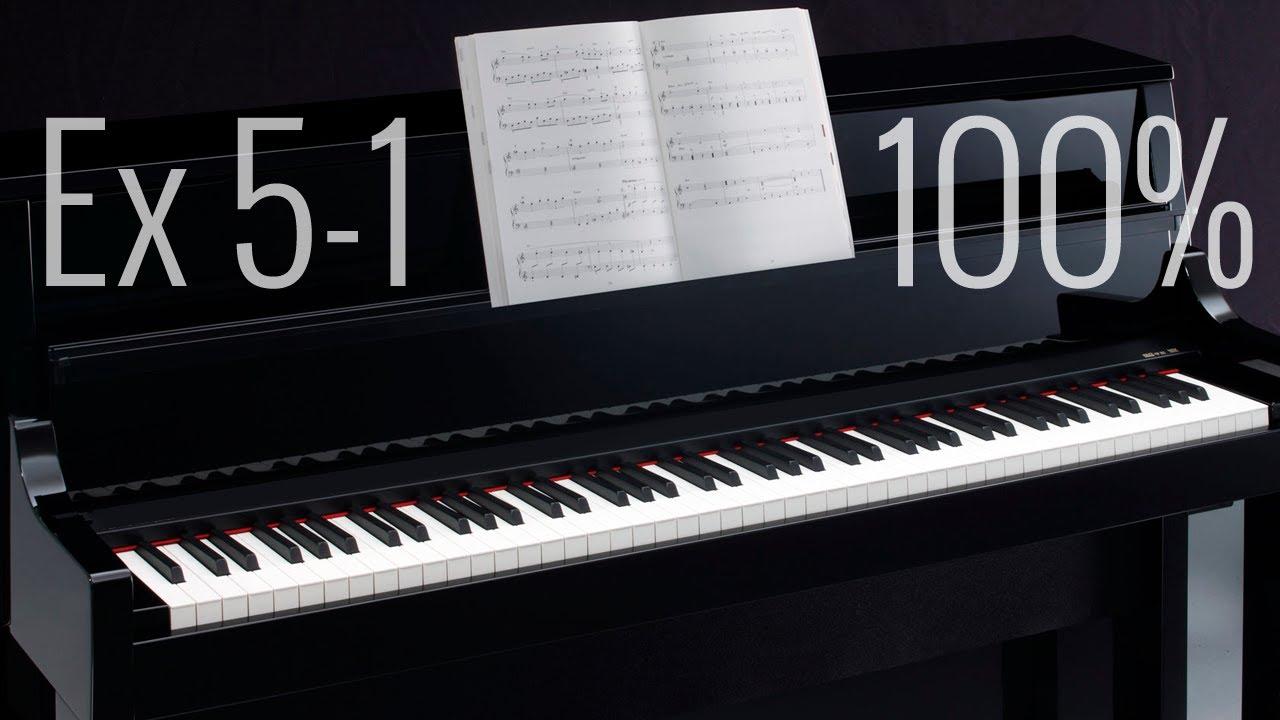exercice 5 1 p cours de piano pour d butant youtube. Black Bedroom Furniture Sets. Home Design Ideas
