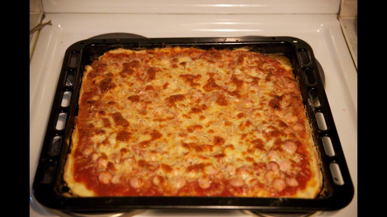 Пицца на противне в духовке рецепт