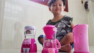 Trò Chơi Bé Pha Cafe, Đồ Chơi Làm Bếp Máy Nước Nóng, Bình Siêu Tốc | Kids Toy Media