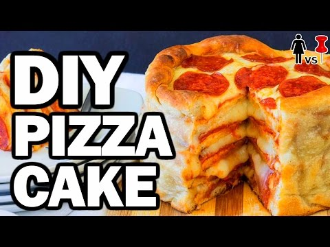 DIY Pizza Cake, Corinne VS Pin #7, Pinterest Test