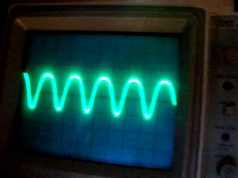 test from a 455 KHz IF filter (test oscillator)