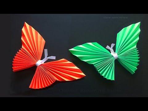 Origami Schmetterling basteln mit Papier - Origami Tiere falten: DIY Wanddeko - Bastelideen Geschenk