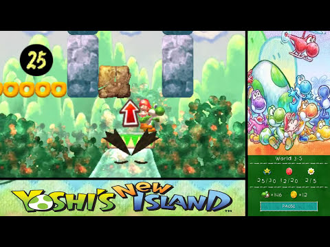 Yoshi's New Island 100% Walkthrough - World 3-7, World 3-8 & World 3-S