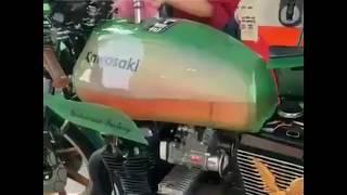 Kawasaki motorcycle   Transparent Fuel tank (petrol tank)   Latest automobile technology 
