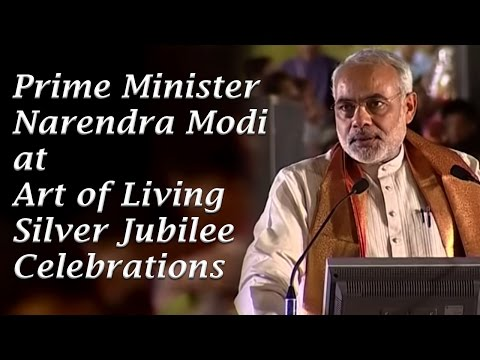 Prime Minister Narendra Modi at Art of Living Silver Jubilee Celebrations