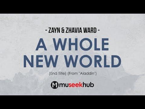ZAYN & Zhavia Ward - A Whole New World (End Title) Full HD Lyrics 🎵