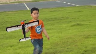 My 2 Years old and 5 years Old Kids Flying Mini RC Plane